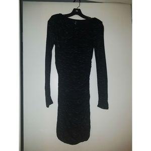 H&M Knit Long-Sleeve Mini Dress